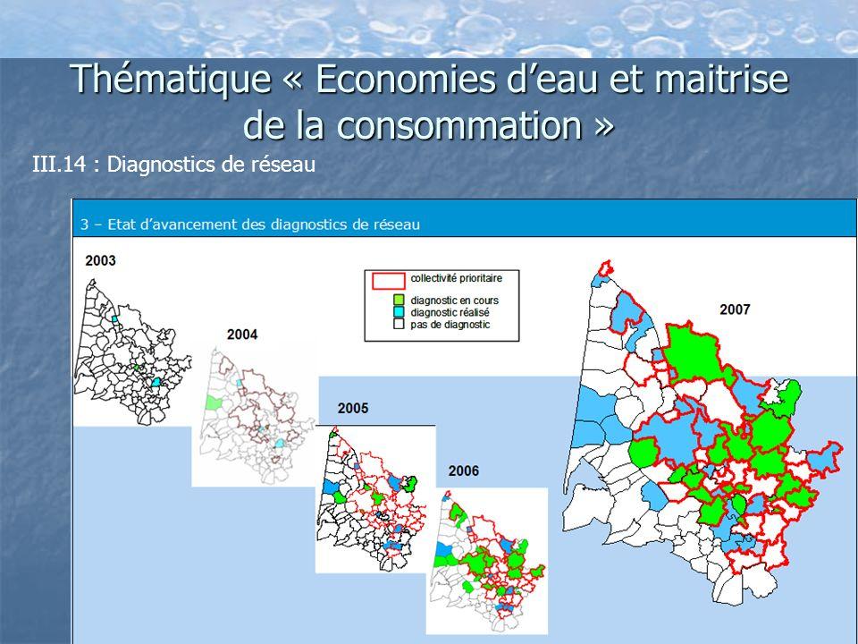 Thématique « Economies deau et maitrise de la consommation » III.14 : Diagnostics de réseau