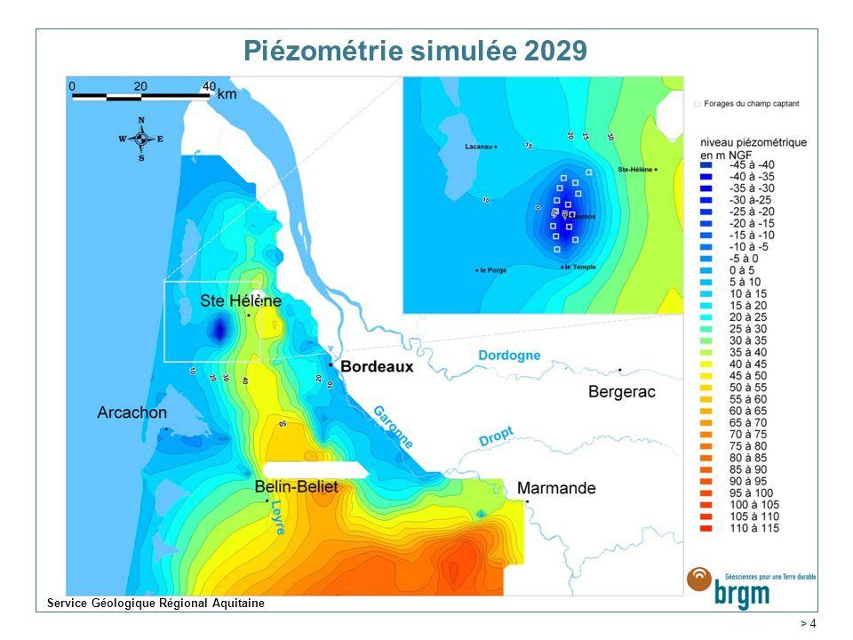 > 4 Piézométrie simulée 2029