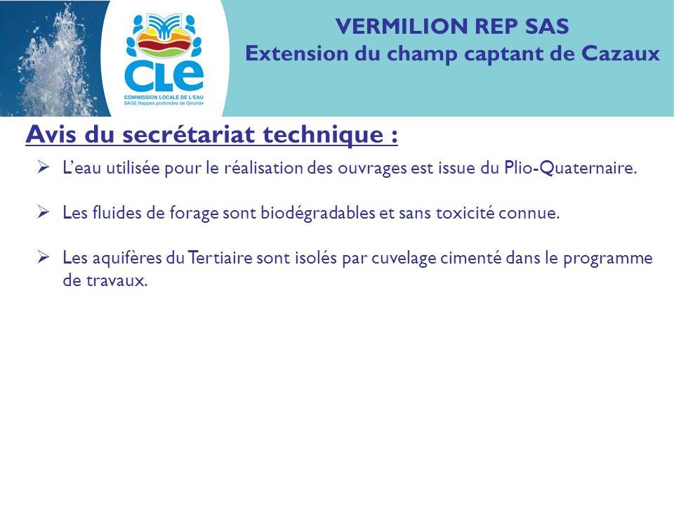 Proposition davis : Considérant les mesures présentées dans le dossier pour préserver la qualité des eaux des aquifères du SAGE, la CLE considère la demande compatible avec le SAGE Nappes profondes de Gironde.