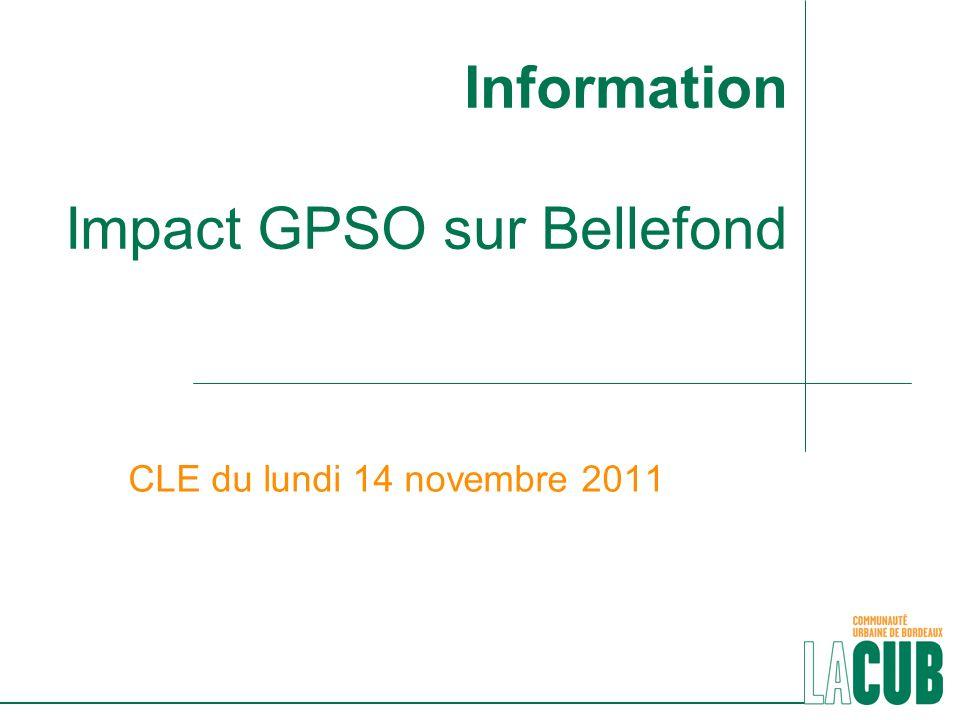 Information Impact GPSO sur Bellefond CLE du lundi 14 novembre 2011