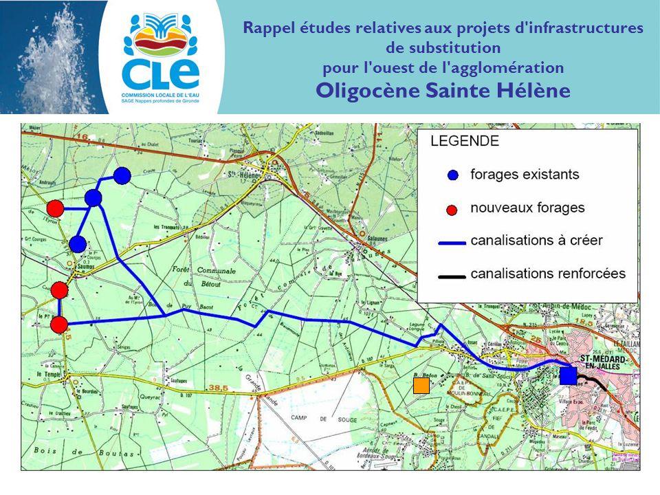Rappel études relatives aux projets d infrastructures de substitution pour l ouest de l agglomération Oligocène Sainte Hélène
