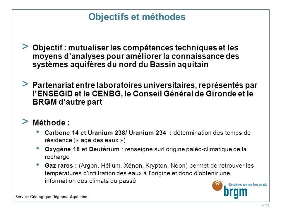 Objectifs et méthodes > Objectif : mutualiser les compétences techniques et les moyens danalyses pour améliorer la connaissance des systèmes aquifères