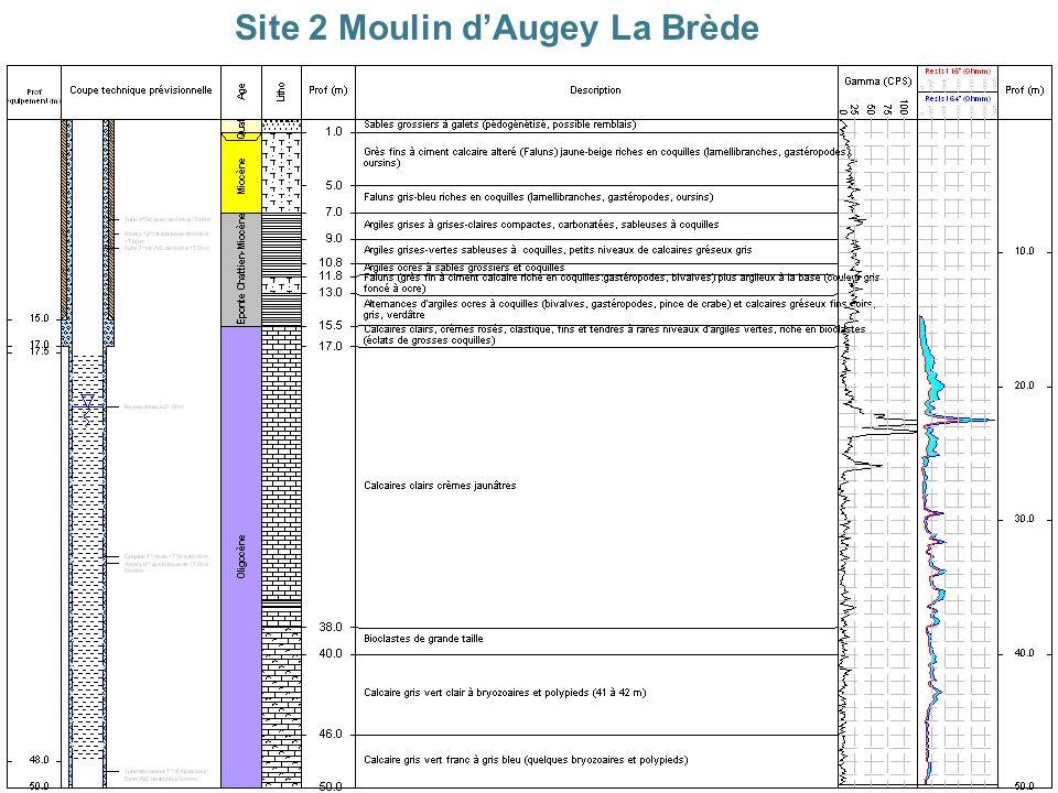 Service Géologique Régional Aquitaine > 8 Site 2 Moulin dAugey La Brède