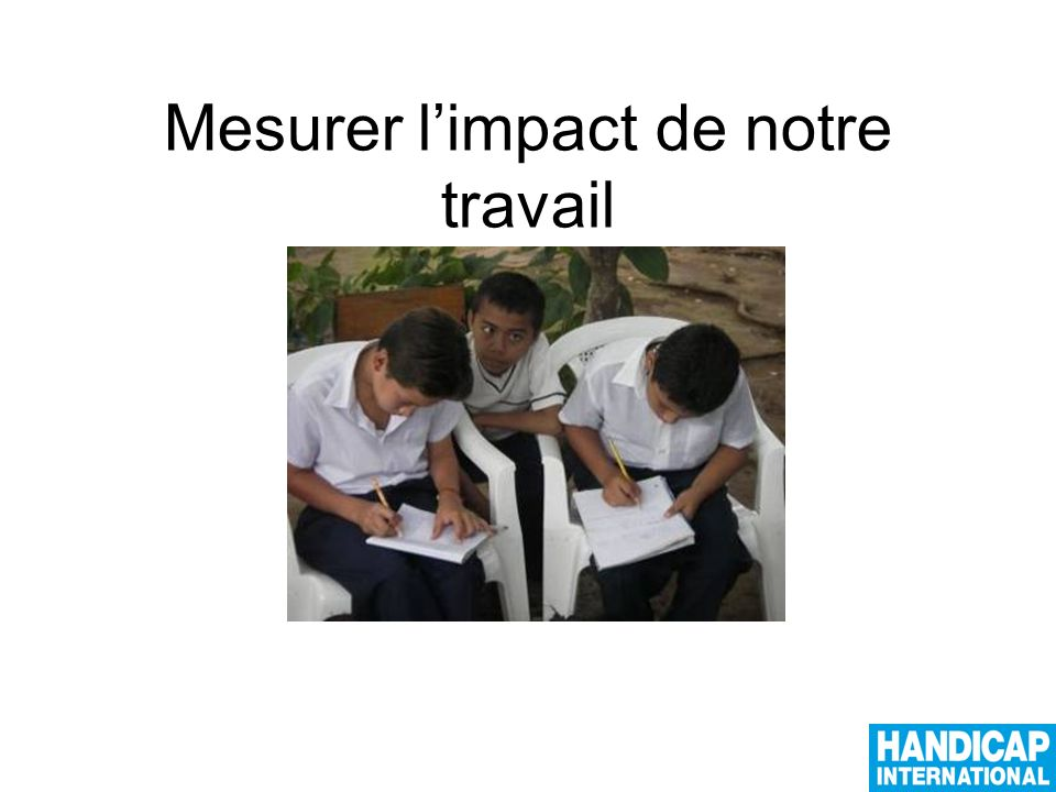 Que veut dire « impact »? Comment le mesurer?