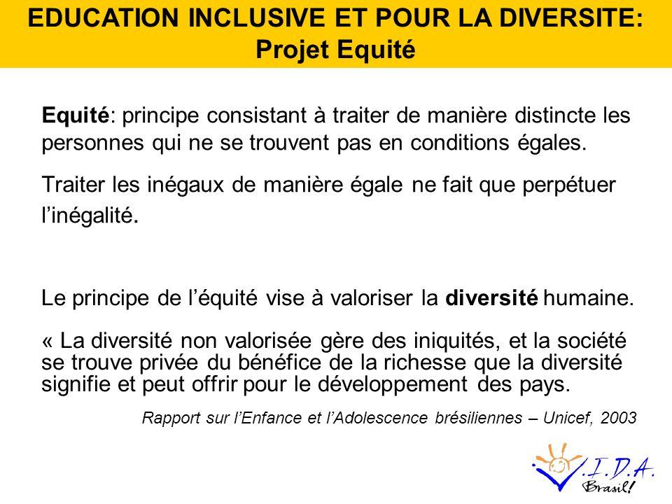 Equité: principe consistant à traiter de manière distincte les personnes qui ne se trouvent pas en conditions égales.