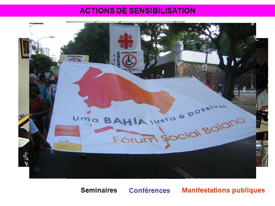 ACTIONS DE SENSIBILISATION Conférences SeminairesManifestations publiques