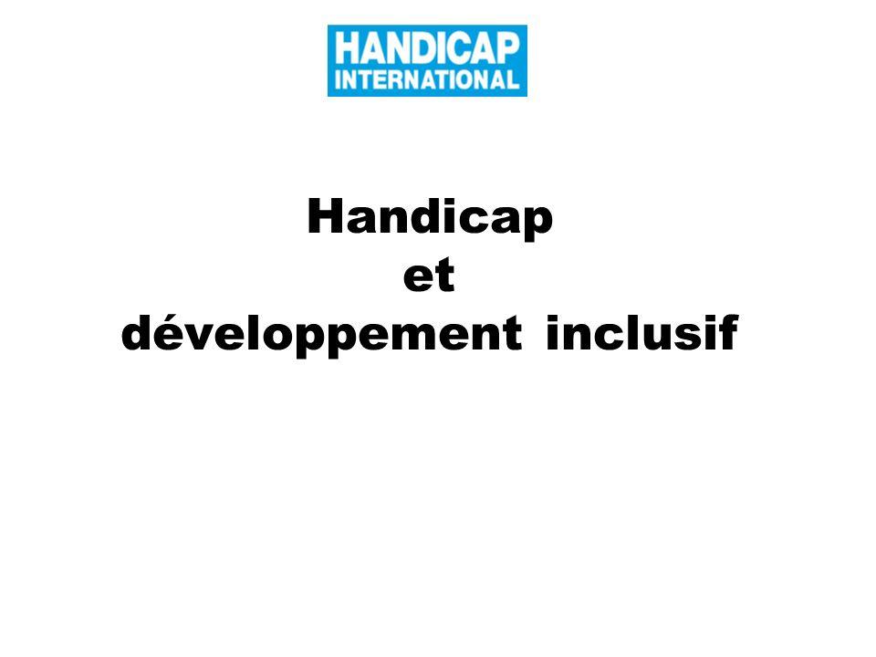 Handicap et développement inclusif