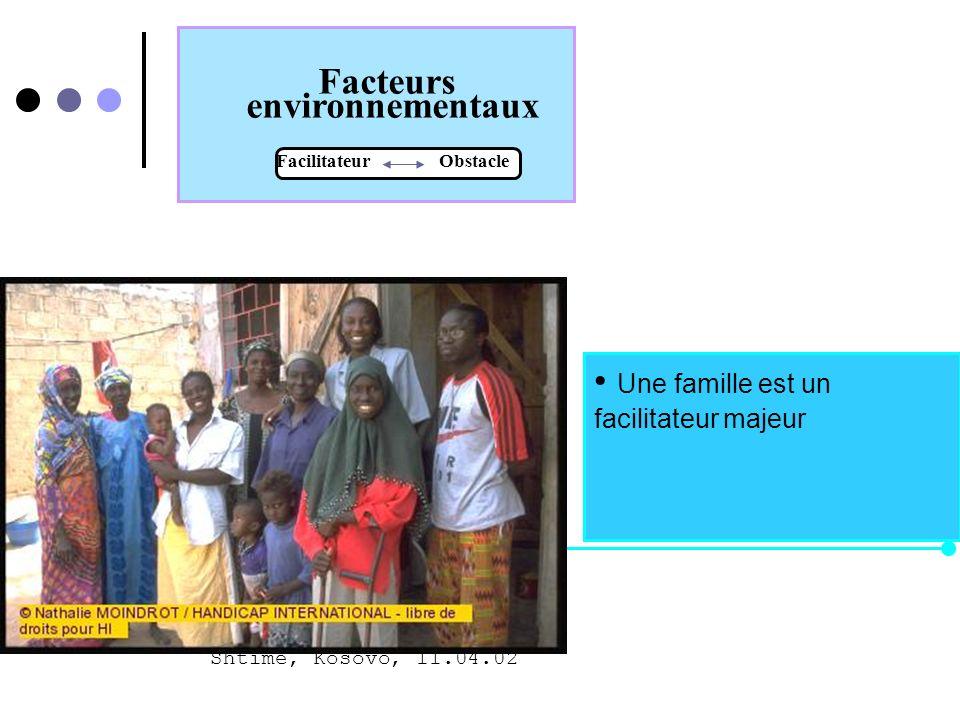 Facteurs environnementaux Facilitateur Obstacle Égalité des droits ! Lexistence dune législation efficace pour favoriser lintégration et pour la promo
