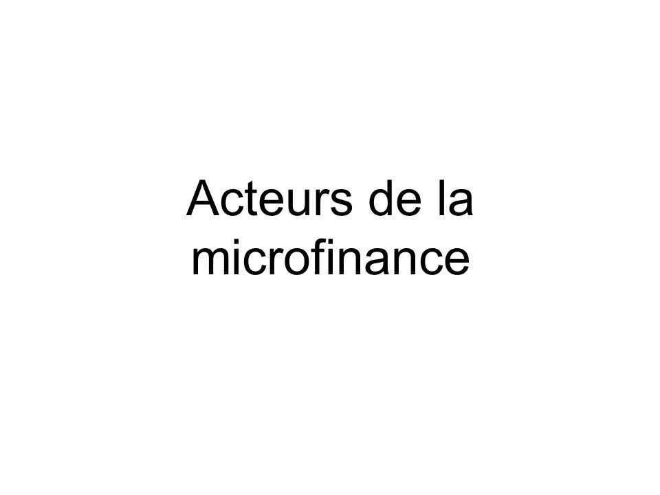 Acteurs de la microfinance