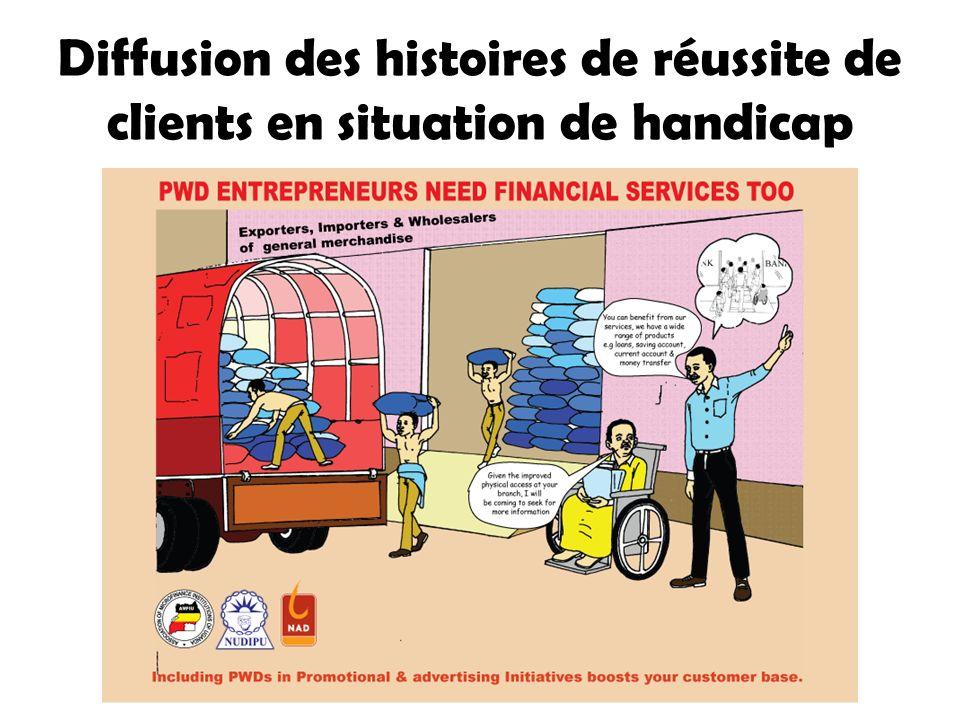 Diffusion des histoires de réussite de clients en situation de handicap