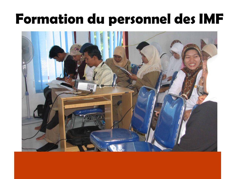 Formation du personnel des IMF