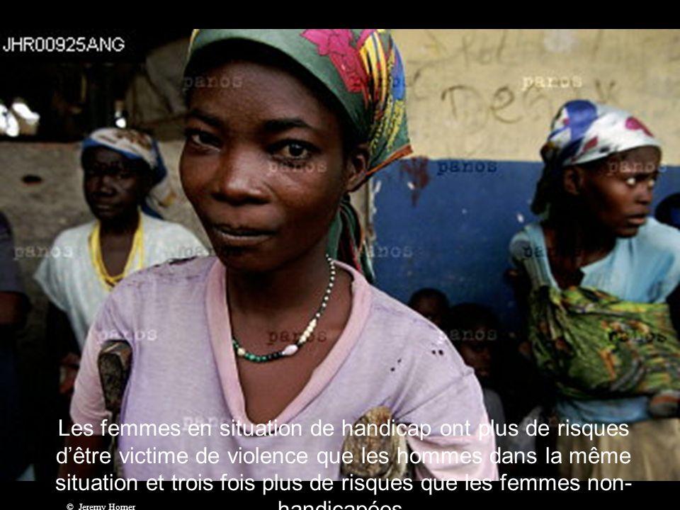 1 %, cest le taux dalphabétisation des femmes et des jeunes filles handicapées dans le monde.