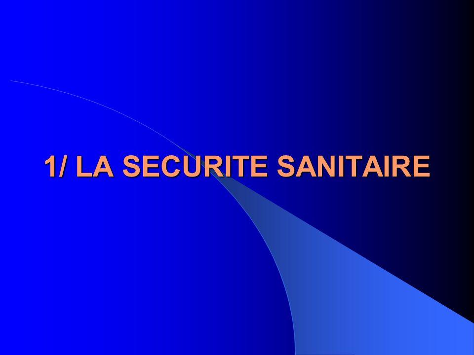 1/ LA SECURITE SANITAIRE