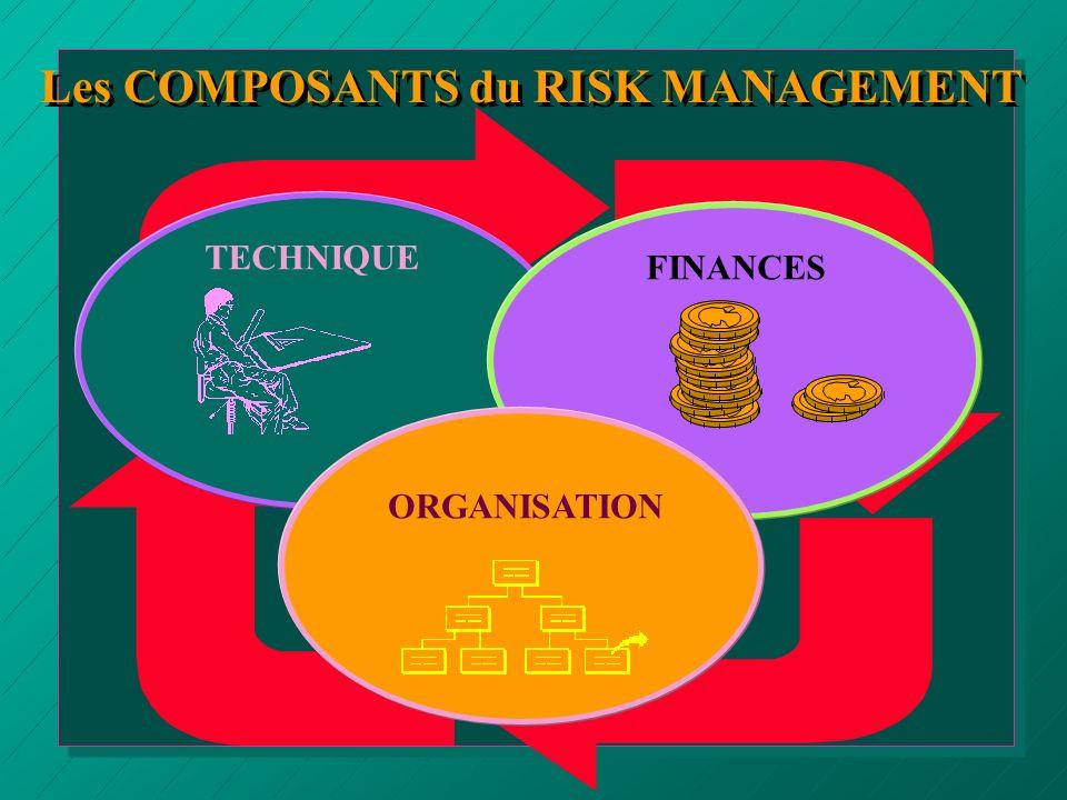 Les COMPOSANTS du RISK MANAGEMENT TECHNIQUE FINANCES ORGANISATION