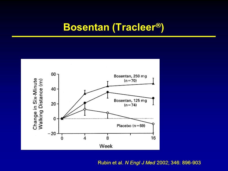 Bosentan (Tracleer ) Rubin et al. N Engl J Med 2002; 346: 896-903