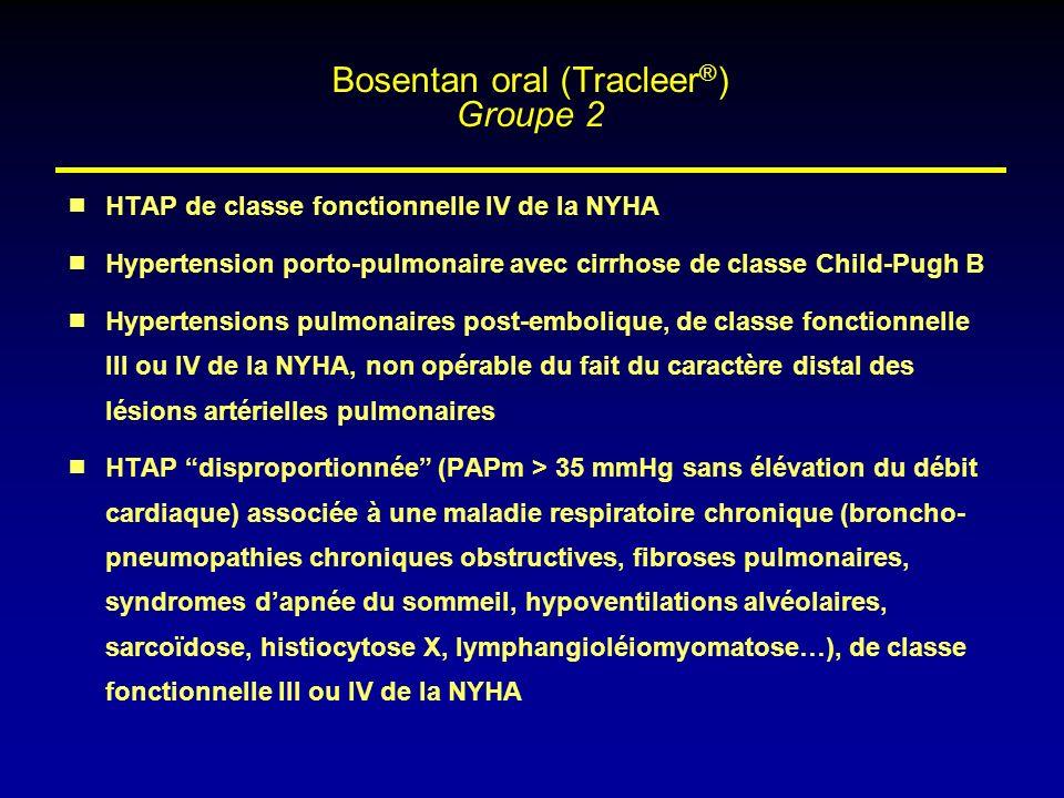 HTAP de classe fonctionnelle IV de la NYHA Hypertension porto-pulmonaire avec cirrhose de classe Child-Pugh B Hypertensions pulmonaires post-embolique