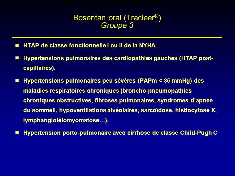 HTAP de classe fonctionnelle I ou II de la NYHA. Hypertensions pulmonaires des cardiopathies gauches (HTAP post- capillaires). Hypertensions pulmonair