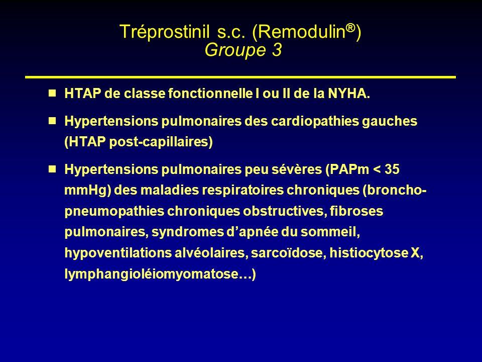 HTAP de classe fonctionnelle I ou II de la NYHA. Hypertensions pulmonaires des cardiopathies gauches (HTAP post-capillaires) Hypertensions pulmonaires