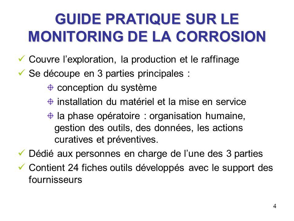 5 GUIDE PRATIQUE SUR LE MONITORING DE LA CORROSION - exemple de fiche outil