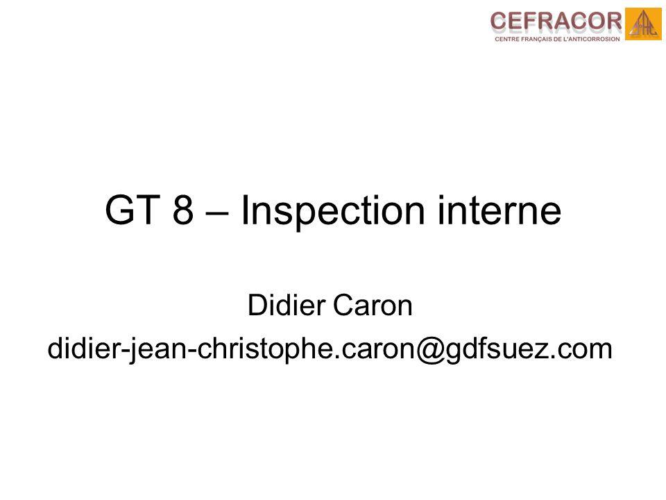 GT 8 – Inspection interne Didier Caron didier-jean-christophe.caron@gdfsuez.com