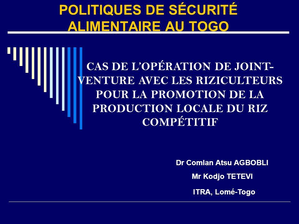 Le surplus de production est racheté et payé au comptant au prix de 230 F/kg Les prestations pour le labour (45.000 F/ha) et le décorticage 12 F/kg sont attrayantes pour les riziculteurs.