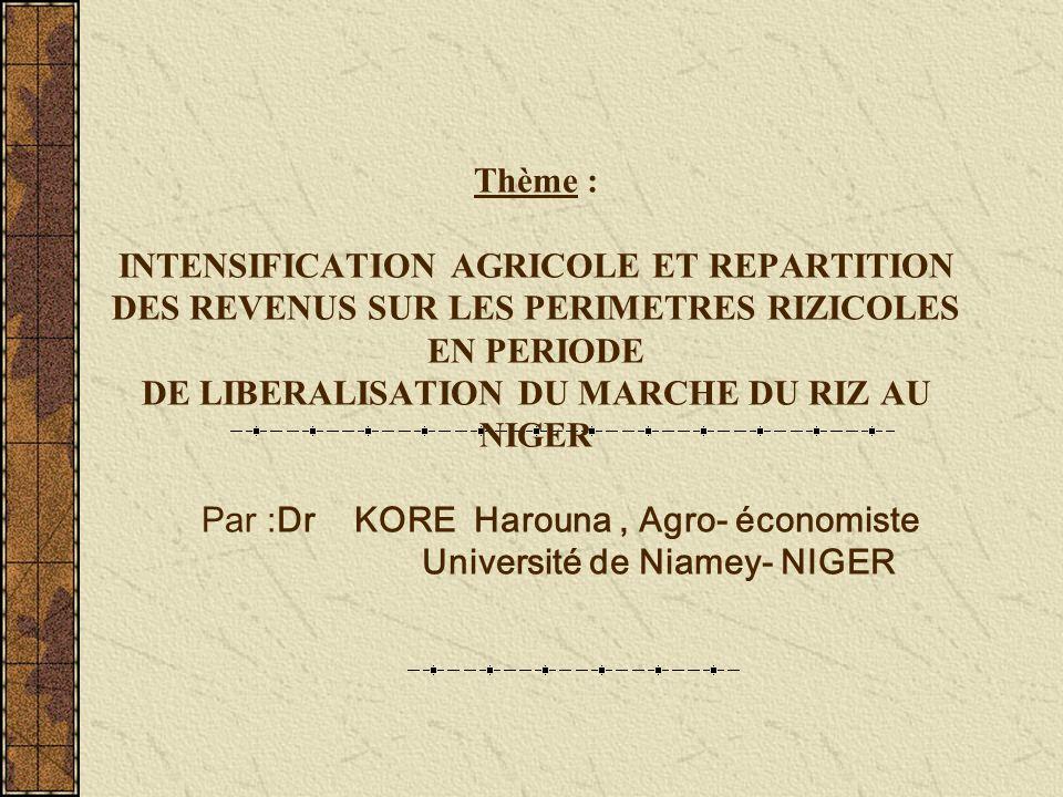 SOMMAIRE I- CONTEXTE DE LA RIZICULTURE INTENSIVE II-METHODOLOGIE III-RESULTATS IV-PERSPECTIVES DAMELIORATION DU REVENU DES RIZICULTEURS CONCLUSION