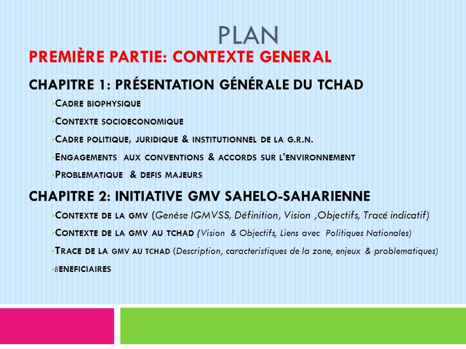 Plan (suite) DEUXIÈME PARTIE: STRATEGIE DE LA GMV AU TCHAD CHAPITRE 3 : STRATEGIE DE MISE EN ŒUVRE DE LA GMV AU TCHAD FONDEMENT ET PRINCIPES DIRECTEURS VISION ET OBJECTIFS AXES STRATEGIQUES CHAPITRE 4: COORDINATION & SUIVI-EVALUATION DISPOSITIF DE COORDINATION SUIVI ET EVALUATION MOBILISATION DES FINANCEMENTS CONCLUSION