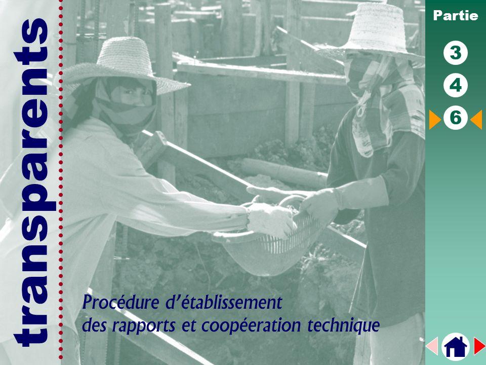 transparents Partie 3 4 6 Procédure détablissement des rapports et coopéeration technique
