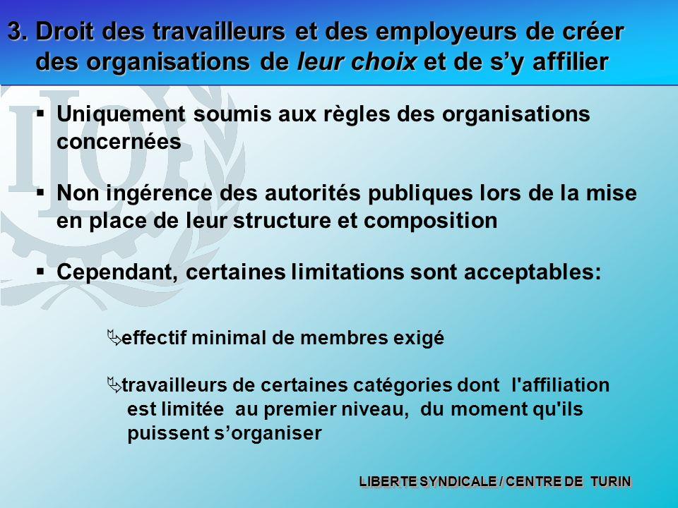 LIBERTE SYNDICALE / CENTRE DE TURIN 3.
