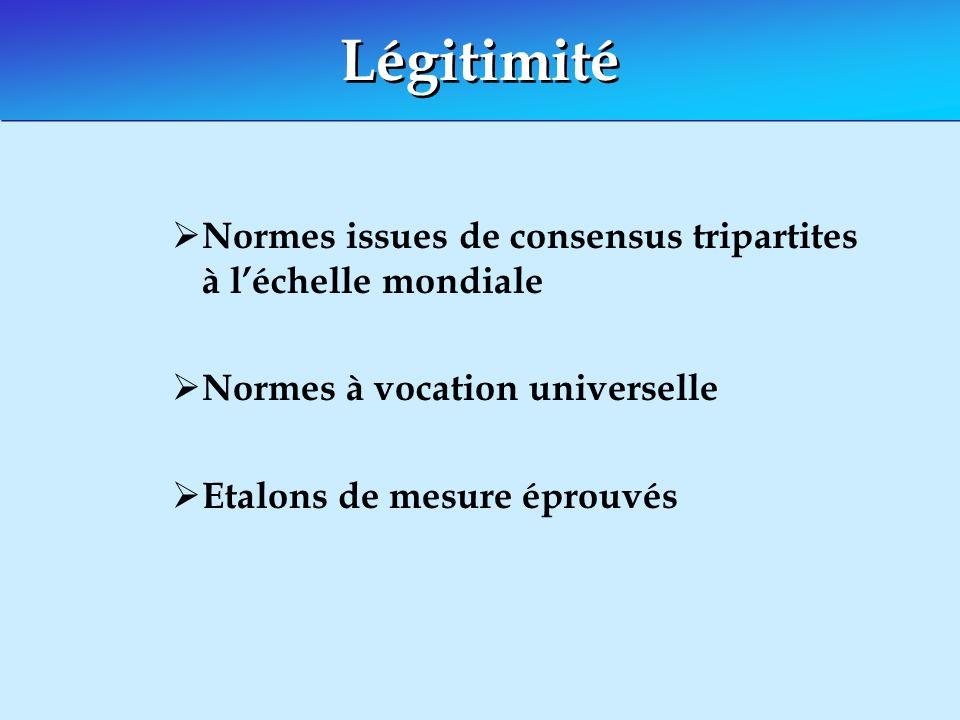 Réaliser légalité au travail La réalisation effective des deux principes de la liberté syndicale et la non-discrimination est requise pour assurer légalité au travail.