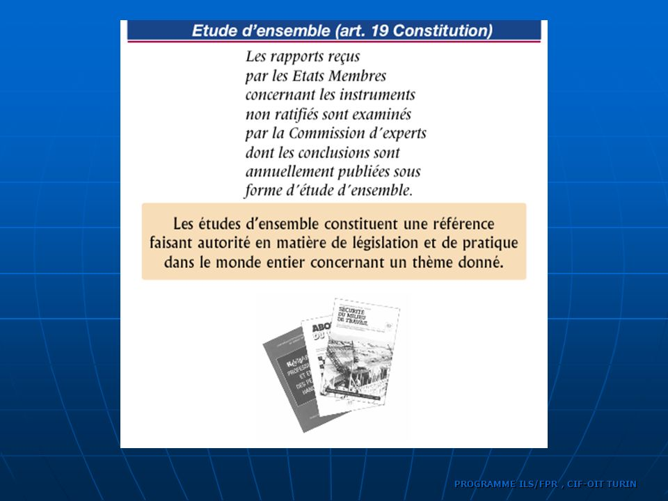 PROGRAMME ILS/FPR, CIF-OIT TURIN