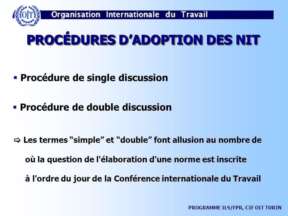 PROGRAMME ILS/FPR, CIF OIT TURIN LA PROCÉDURE DE RÉCLAMATION (ART.
