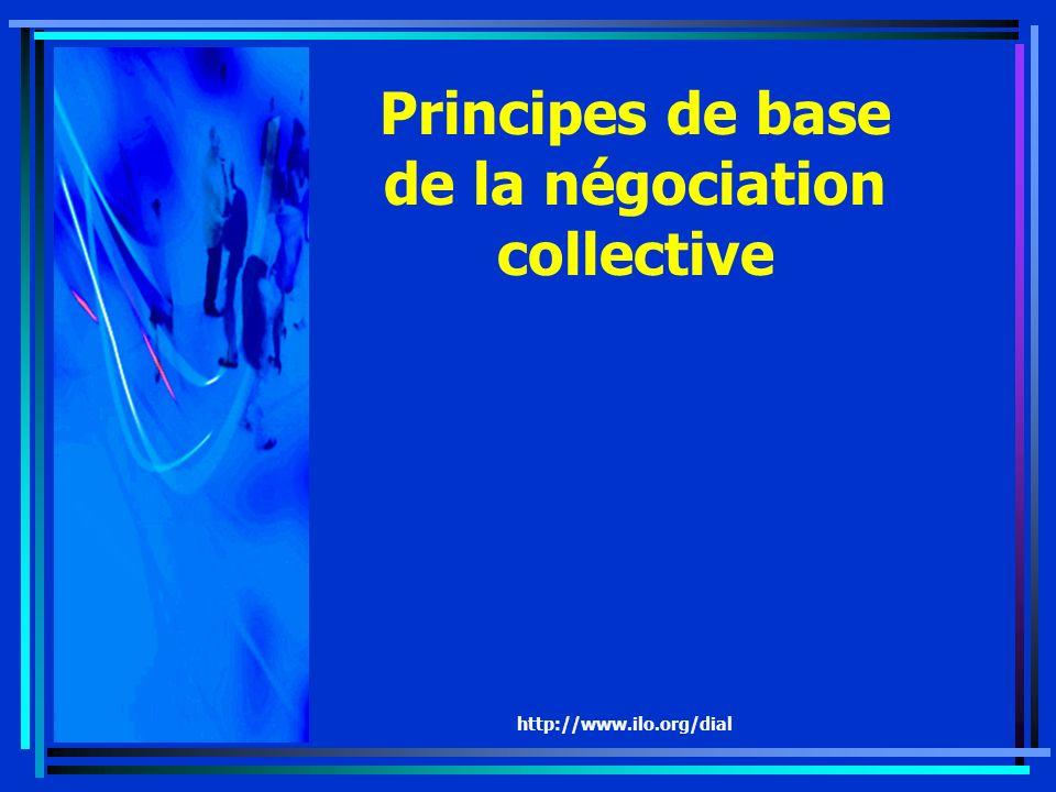 http://www.ilo.org/dial Principes de base de la négociation collective