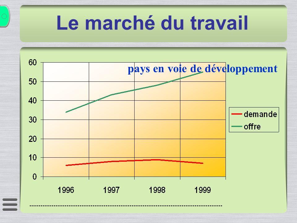 pays en voie de développement Le marché du travail