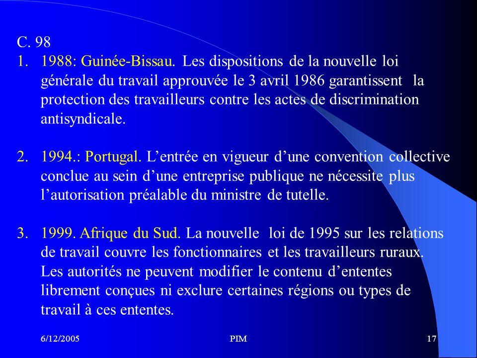 6/12/2005PIM17 C.98 1.1988: Guinée-Bissau.