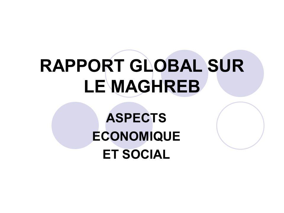 INTRODUCTION Le Maghreb se situe au nord de lAfrique, lunion du grand Maghreb est venue consolider les aspiration des peuples et des dirigeants maghrébins à édifier un ensemble régional intégré,plus viable et plus durable que ne lont été les expériences tentées par le passé… Réuni à lautomne 88, les rédacteur de la grande commission maghrébine du traité constitutif de lUMA du 17 février 1989 ont tenu dans le préambule à mettre en exergue les liens solidaires qui unissent les peuples du Maghreb, liens fondés sur la communauté de lhistoire, de la religion et de la langue, dans la perspective est « la marche progressive vers la réalisation dune intégration complète » Il comprend: ALGERIE/MAROC/TUNISIE/LYBIE/MAURITANIE