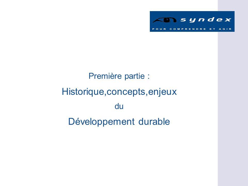 Première partie : Historique,concepts,enjeux du Développement durable