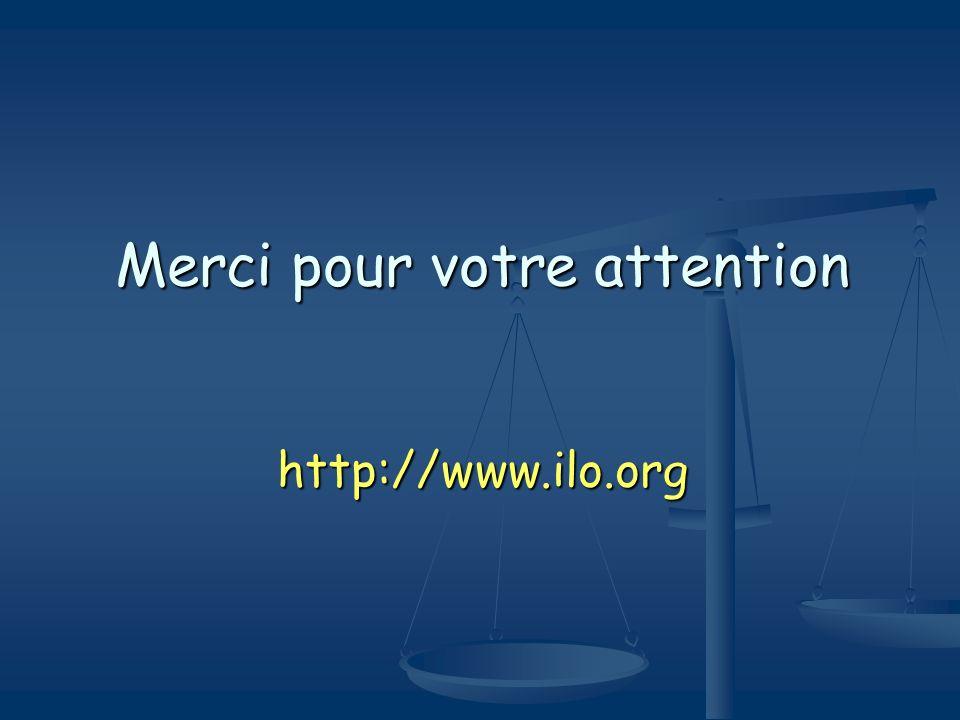 Merci pour votre attention http://www.ilo.org