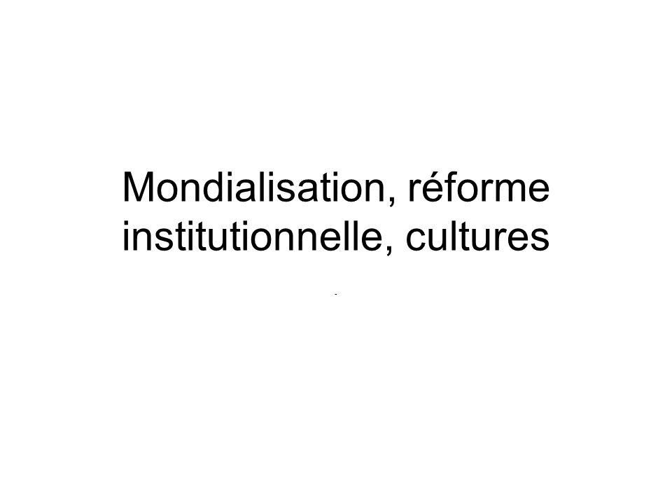Les acteurs de la mondialisation Organizations Int. Etats Corporations ONG Experts