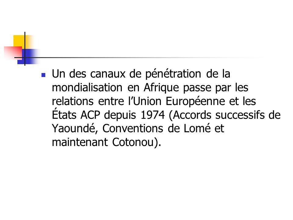 LU.E. propose à LAfrique un partenariat économique qui se résume dans le théorème vertueux suivant.