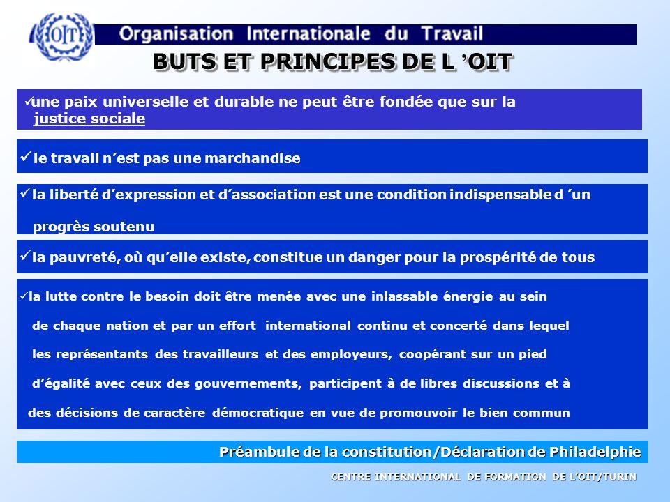 CENTRE INTERNATIONAL DE FORMATION DE LOIT/TURIN ORGANISATION INTERNATIONALE DU TRAVAIL fondée en 1919 institution spécialisée des Nations Unies 179 Et