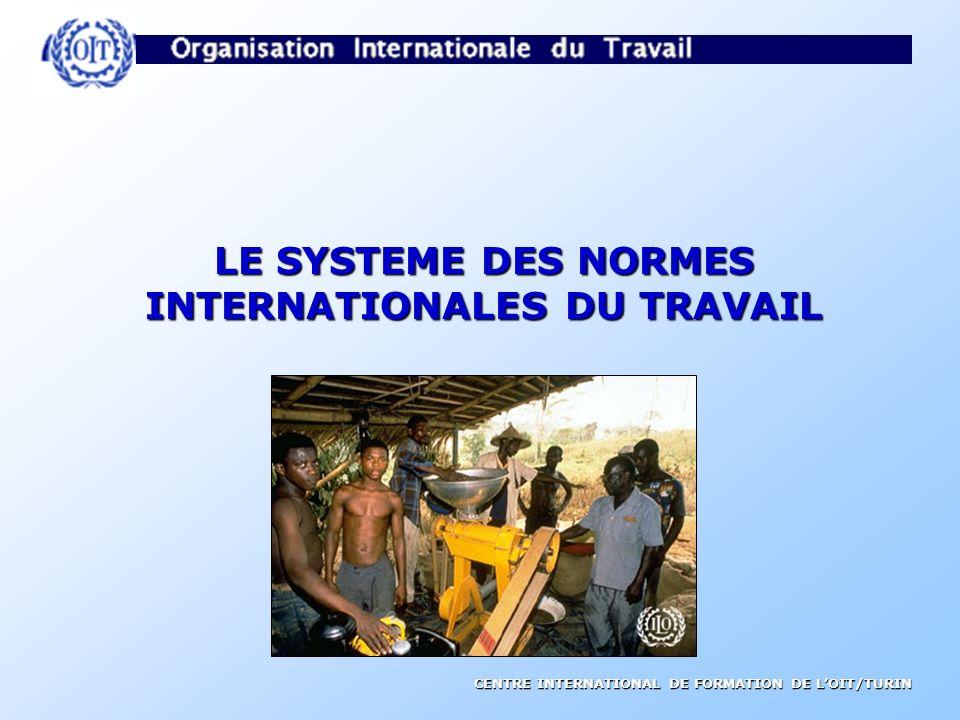 CENTRE INTERNATIONAL DE FORMATION DE LOIT/TURIN LE SYSTEME DES NORMES INTERNATIONALES DU TRAVAIL