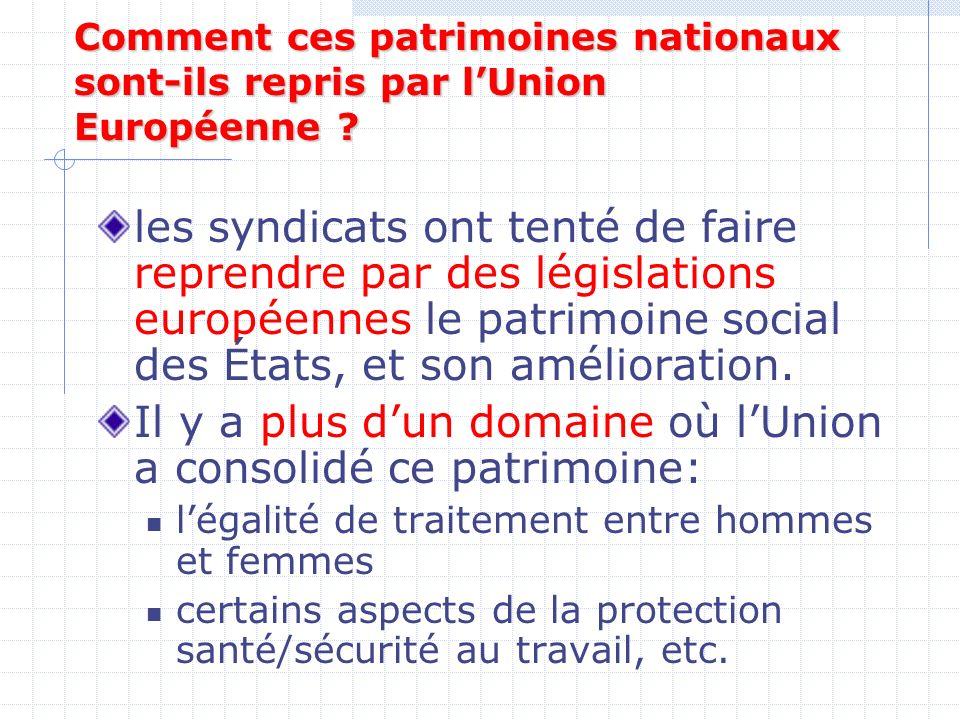 Comment ces patrimoines nationaux sont-ils repris par lUnion Européenne .