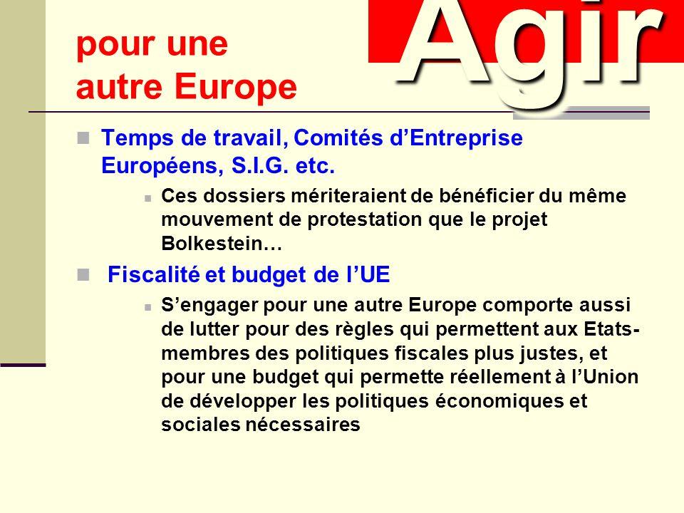 Temps de travail, Comités dEntreprise Européens, S.I.G.