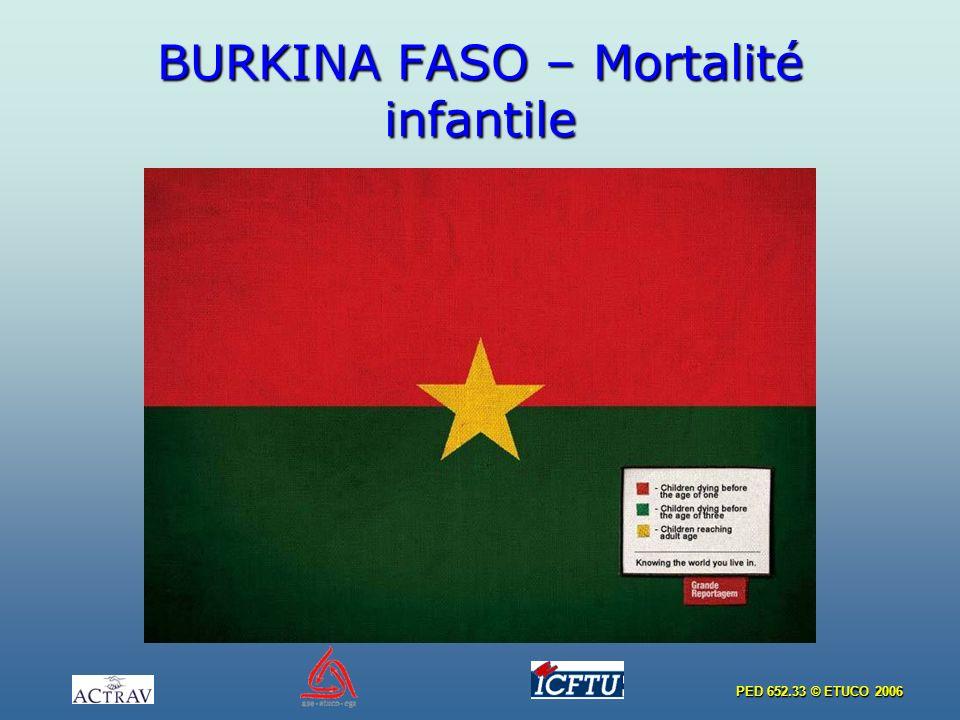 PED 652.33 © ETUCO 2006 BURKINA FASO – Mortalité infantile