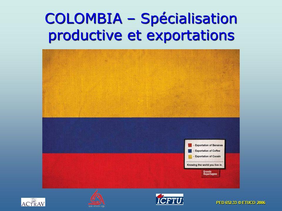 PED 652.33 © ETUCO 2006 COLOMBIA – Spécialisation productive et exportations