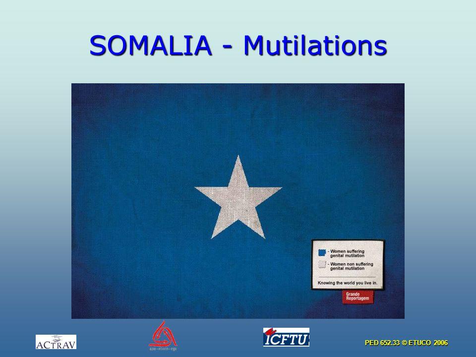PED 652.33 © ETUCO 2006 SOMALIA - Mutilations
