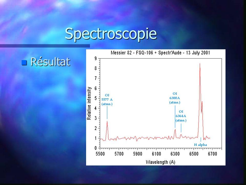 Spectroscopie n Résultat