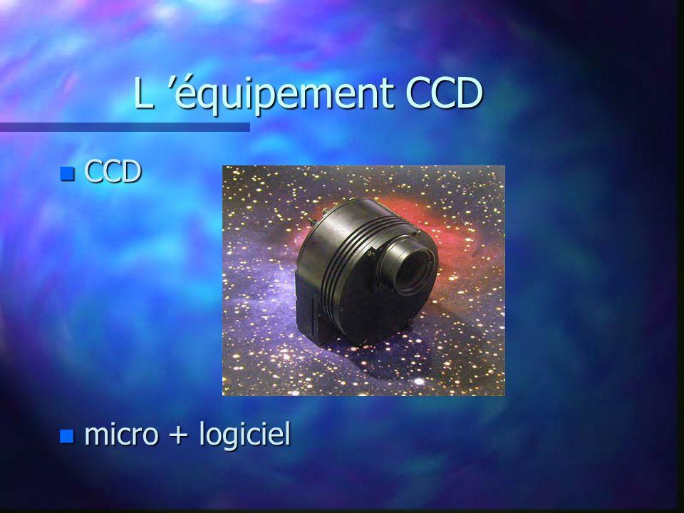 L équipement CCD n CCD n micro + logiciel