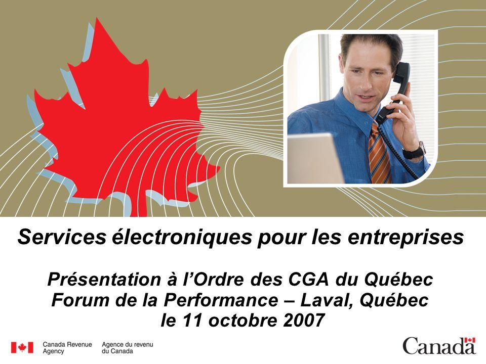 Les services électroniques de lARC pour les entreprises et les particuliers Présente les informations au sujet des services électroniques de façon attrayante et innovatrice.